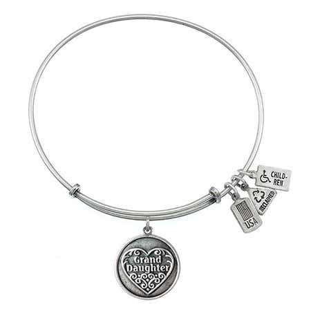 Wind & Fire Grand Daughter Charm Bangle Bracelet | Eve's Addiction®