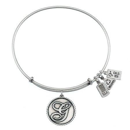 Wind & Fire Letter G Charm Initial Bracelet | Eve's Addiction®
