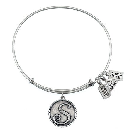 Wind & Fire S Initial Design Charm Bracelet with Silver Finish| Eve's Addiction®
