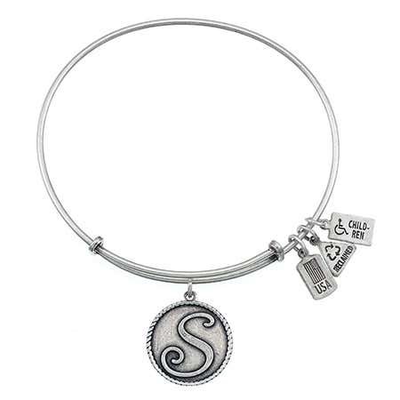 display slide 1 of 3 - Wind & Fire S Initial Design Charm Bracelet - selected slide
