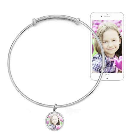 Petite Charm Photo Bracelet Bangle