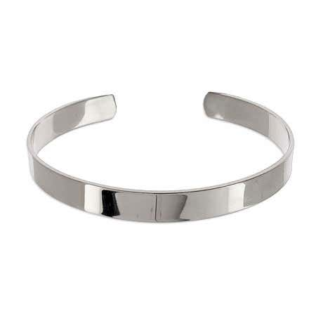 Plain Style Stainless Steel Engravable Cuff Bracelet