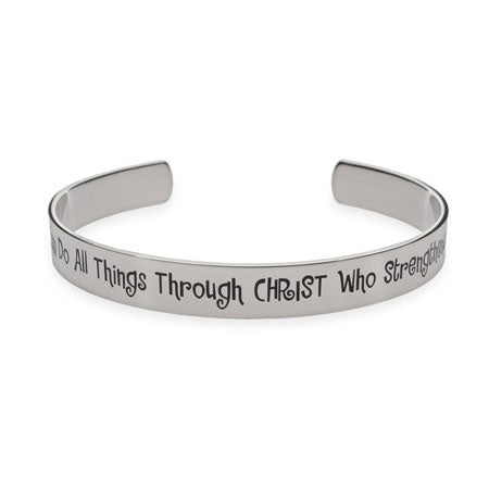 I Can Do All Things Through Christ Who Strengthens Me Cuff Bracelet | Eve's Addiction®