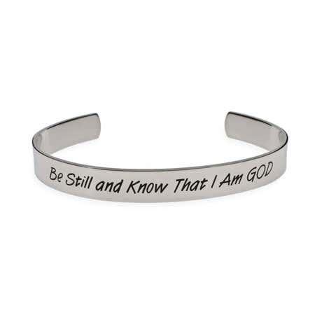Be Still and Know That I am God Psalm Bracelet