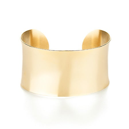 18k Gold Plated Wide Cuff Bracelet | Eve's Addiction®