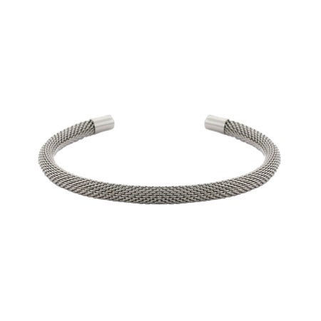 Thin Mesh Stainless Steel Cuff Bracelet | Eve's Addiction®