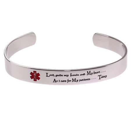 Engravable Nurse's Prayer Cuff Bracelet