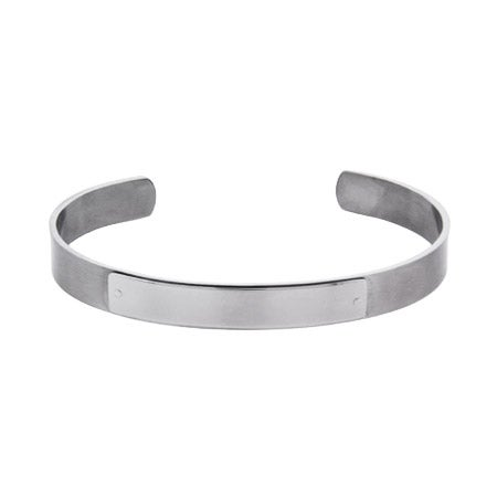 Engravable Stainless Steel ID Cuff Bracelet | Eve's Addiction®