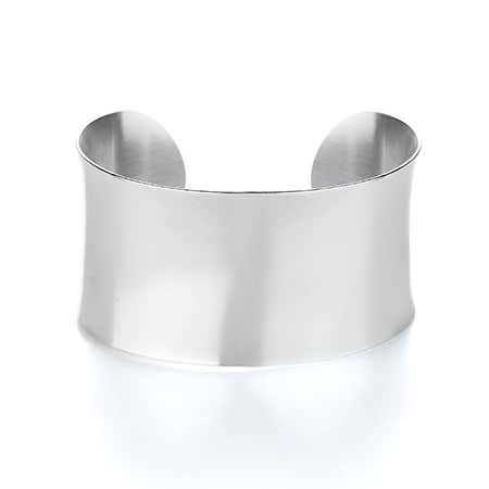Stainless Steel Engravable Wide Cuff Bracelet