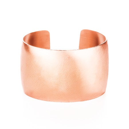 Rose Gold Wide Cuff Bracelet with Brushed Finish | Eve's Addiction®