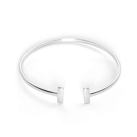 Double Open Bar Sterling Silver Cuff Bracelet | Eve's Addiction®