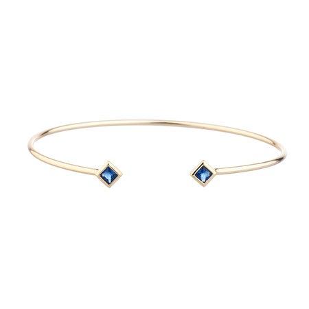 Shashi Rhyan Gold Cuff Bracelet in Sapphire   Eve's Addiction®