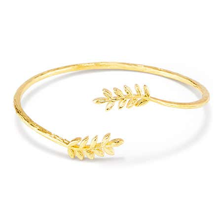 Gold open cuff bracelet from eves addiction from gorjana jewelry on sale