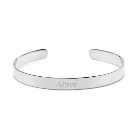 Engravable Cuff Bracelet in Silver