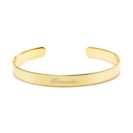 Engravable Cuff Bracelet in Gold