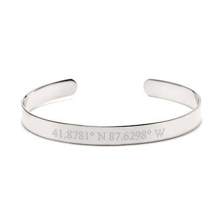 Custom latitude longitude bracelet for valentines day gifts for her at eves addiction