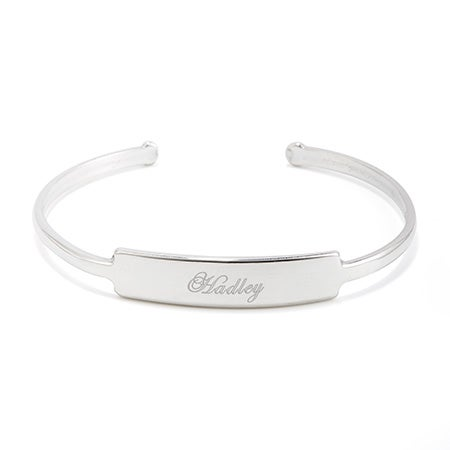 Sterling Silver Engravable Cuff Bracelet   Eves Addiction