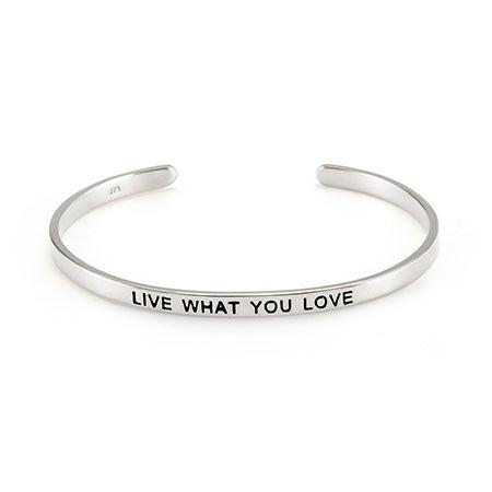 Live What You Love Enamel Bracelet | Eve's Addiction