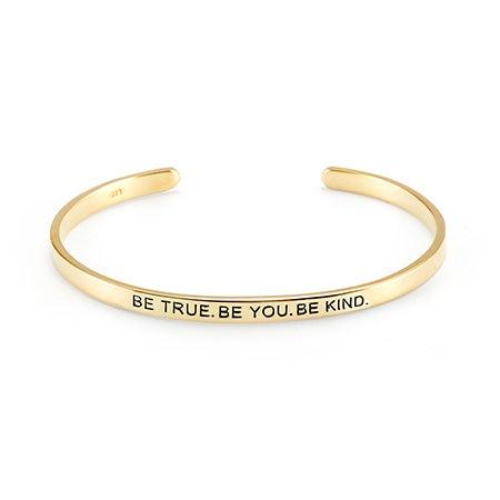 Gold Plated Message Inscribed Bracelet | Eves Addiction