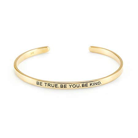 Gold Plated Message Inscribed Bracelet | Eves Addiction