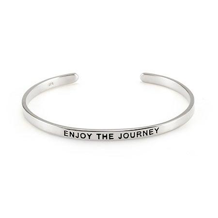 Enjoy The Journey Enamel Message Cuff | Eve's Addiction