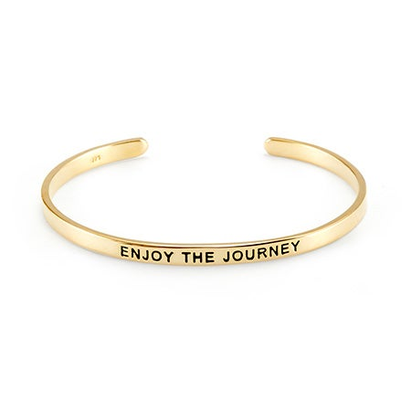 Gold Plated Message Cuff Bracelet | Eve's Addiction