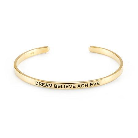 Silver Dream Believe Achieve Bracelet | Eve's Addiction