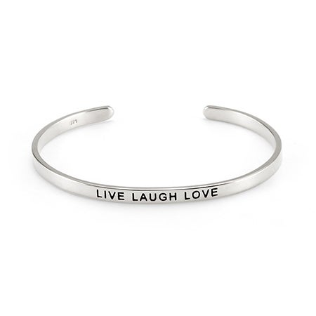 Live Laugh Love Message Bracelet | Eve's Addiction