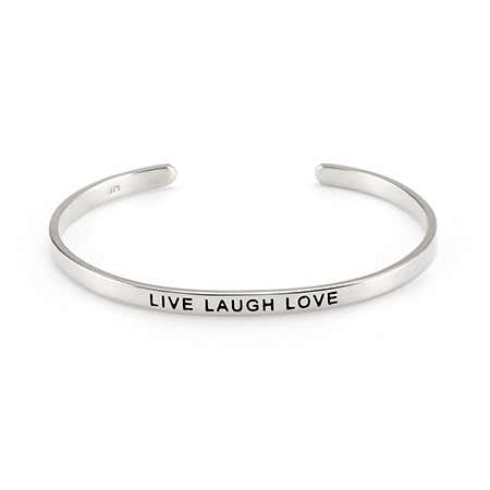 Live Laugh Love Message Bracelet