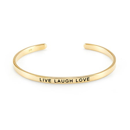 Live Laugh Love Gold Message Bracelet | Eve's Addiction