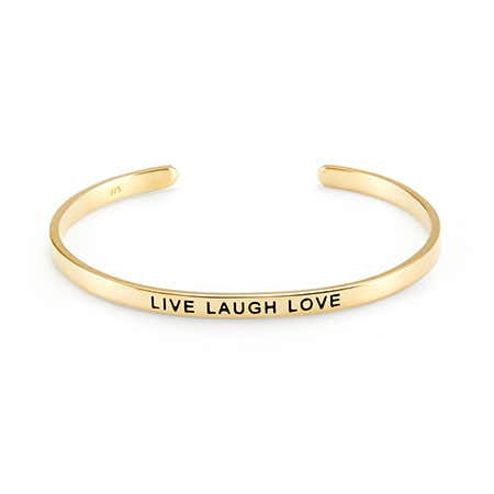 Live Laugh Love Gold Message Bracelet
