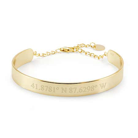 Personalized Gold Cuff Name Bracelet | Eve's Addiction