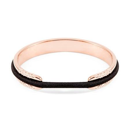 Flower Rose Gold Elastic Cuff Bracelet | Eve's Addiction
