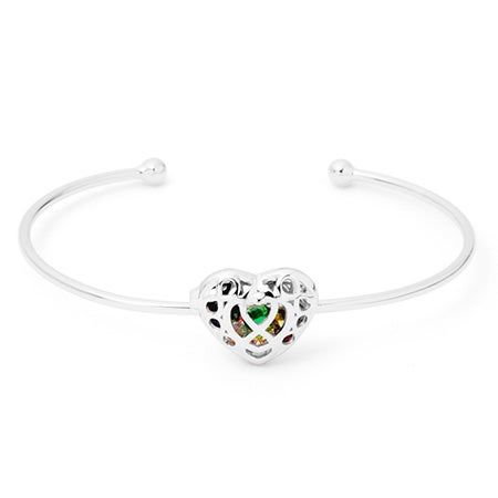 Infinity Heart Sterling Silver Birthstone Locket Bracelet