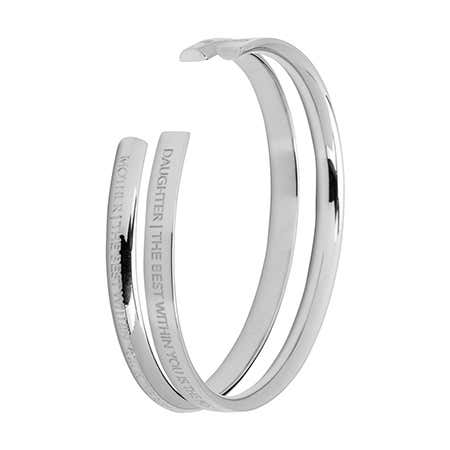 Mother Daughter Silver Cuff Bracelet Set by Stella Valle