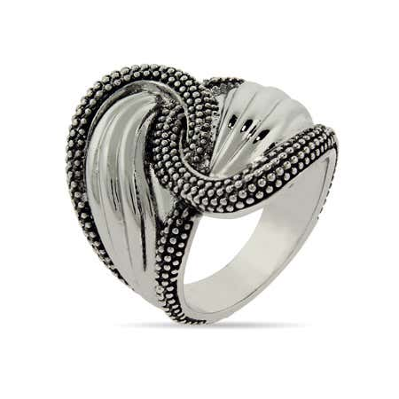 Designer Inspired Decorated Edge Spoon Ring