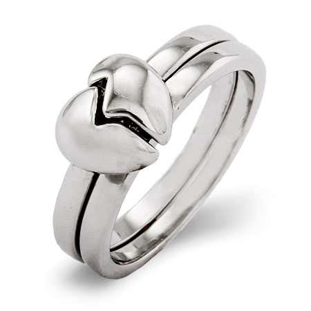 Best Friends Heart Ring - 2 in 1 | Eve's Addiction®