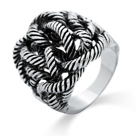 Twisted Rope Designer Inspired Ring | Eve's Addiction®
