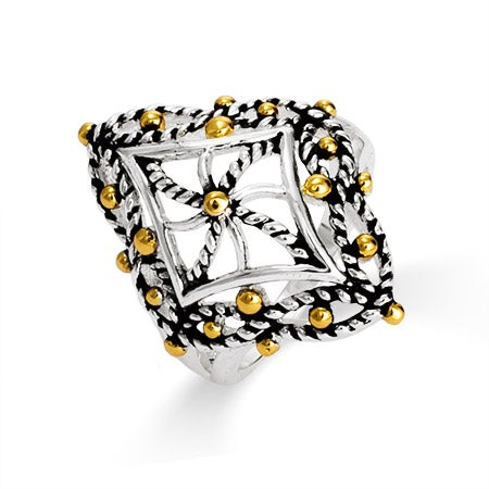 Designer Inspired Cable Filigree Diamond Shaped Ring | Eve's Addiction®