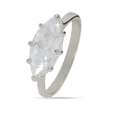 Sideways Marquise CZ Right Hand Ring | Eve's Addiction®