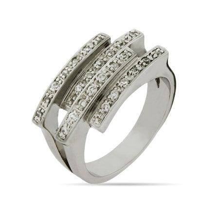 Interlocking CZ Bars Ring | Eve's Addiction®