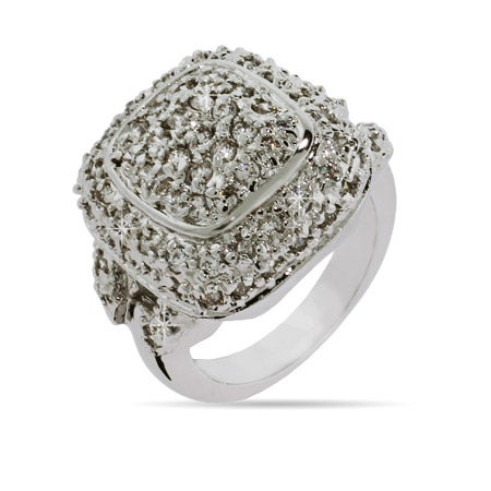 Designer Inspired Pave Cushion Ring | Eve's Addiction®