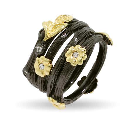 Golden Nature Four Band Stackable Ring Set | Eve's Addiction®