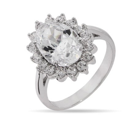 The Royal Ring In Brilliant Faceted Cut Diamond CZ | Eve's Addiction®