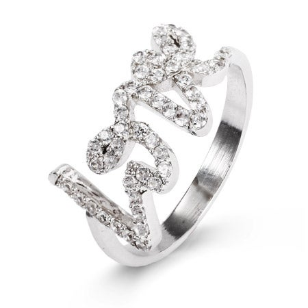 CZ Scripted Love Ring | Eve's Addiction®
