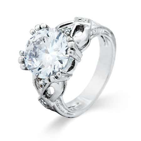 Open Heart 7 Carat Brilliant Cut Engagement Ring | Eve's Addiction®