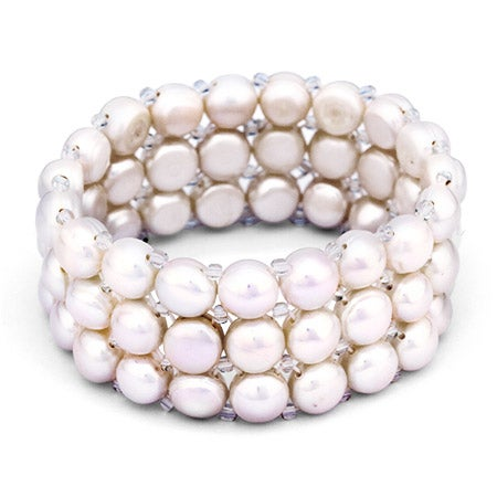 White Pearl Stretch Bracelet | Eve's Addiction®