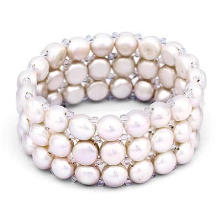 White Pearl Stretch Bracelet | Eve's Addiction®