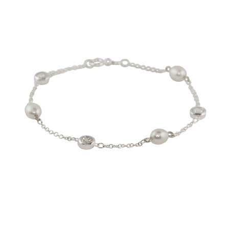 Pearl CZ Studded Chain Bracelet | Eve's Addiction®