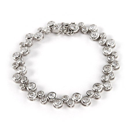 Sterling Silver and CZ Bubbles Bracelet | Eve's Addiction®